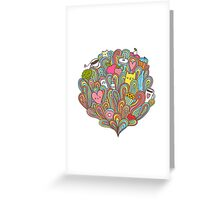 Doodle dreams Greeting Card