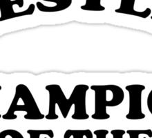 Women's Wrestling Champion of the World Sticker