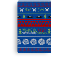 Supernatural Christmas Sweater Canvas Print