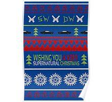 Supernatural Christmas Sweater Poster
