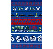 Supernatural Christmas Sweater Photographic Print