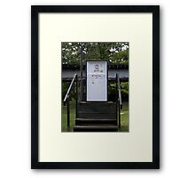 old timey gas pump Framed Print