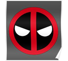 Angry Deadpool Icon  Poster