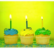 Birthday Cupcakes Photographic Print