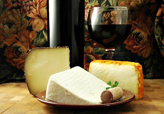 Wine and Cheese by Karin  Hildebrand Lau