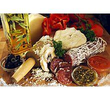 Pizza Ingredients Photographic Print