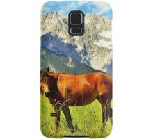 Horse in the Alps Samsung Galaxy Case/Skin