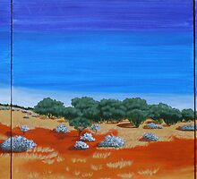 OUTBACK VISTA TRIPTYCH (AUSTRALIA) by RoseLangford