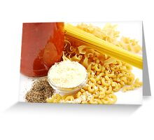 Pasta Ingredients Greeting Card