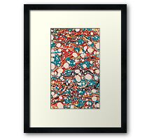 Psychedelic Marbling Paper Blob Framed Print