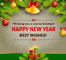 HAPPY NEW YEAR, BEST WISHES by giftshop