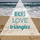 Beaches love triangles by annamoreganna