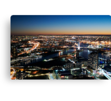 The Docklands Sweep. Canvas Print