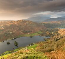Rydal Water from Nab Scar by Chris Tarling