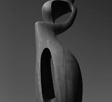 Yorkshire sculpture park black and white picture by Dave Warren