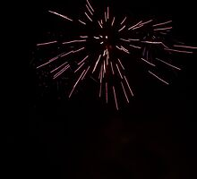 Fireworks Over Cuenca Ecuador by Al Bourassa