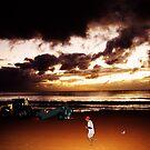 Dawn at Manly Beach by ArtbyCowboy