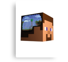Minecraft Steve Terraria Canvas Print