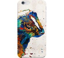 Colorful Skunk Art - Dee Stinktive - By Sharon Cummings iPhone Case/Skin