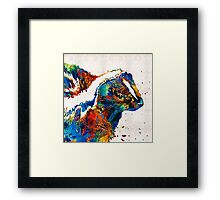 Colorful Skunk Art - Dee Stinktive - By Sharon Cummings Framed Print