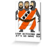 Threed Headed Giant - Monty Python and the Holy Pixel Greeting Card