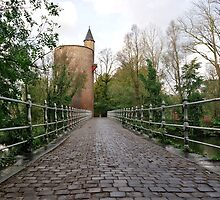 Bridge over Minnewater, Bruges by Ludwig Wagner