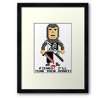 Sir Lancelot - Monty Python and the Holy Pixel Framed Print
