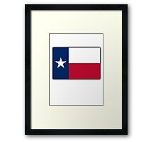 TEXAS FLAG, Flag of the state of Texas, USA, America, American Framed Print