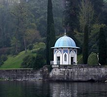 Gazebo on Lake Como, Italy by Terri Foster