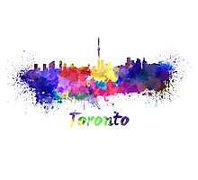 Toronto skyline in watercolor Photographic Print