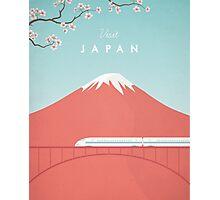 Vintage Japan Travel Poster Photographic Print
