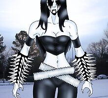 "Black Metal Chick ""Raw Necro Winter"" by Luke Kegley"