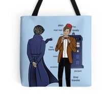 Sherlock meets the Doctor Tote Bag
