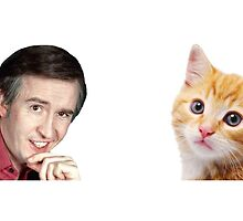 I'm Alan Partridge – Alan and Cat Mug by PonchTheOwl