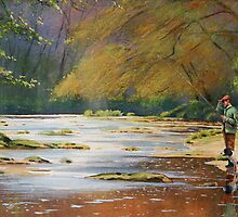 Fisherman and his dog by Brian Towers