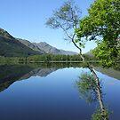mirror calm scottish loch   by dinghysailor1