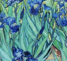 Famous art, Iris,  by Vincent van Gogh. Vintage impressionism floral oil painting. Sticker