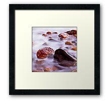 Crail Harbour Rocks Framed Print