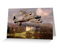 Lancaster over Scotland Greeting Card