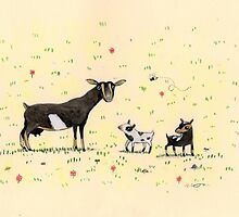 A Doe & Her Kids by Sophie Corrigan