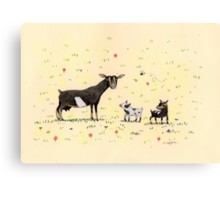 A Doe & Her Kids Canvas Print