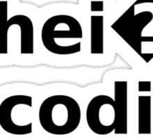 Schei? Encoding White T-Shirt Sticker