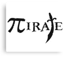 Pi Symbol Pirate Canvas Print