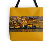 Sunset over Boston Harbor Tote Bag