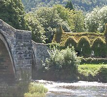 Llanrwst Bridge and Coffee House by JImage