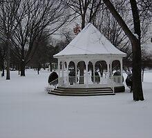 WINTER SNOW AND A BEAUTIFUL GAZEBO   by MsLiz