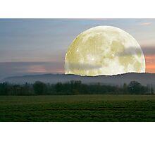 Last nights moon Photographic Print