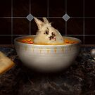 Animal - Bunny - There's a hare in my soup by Mike  Savad
