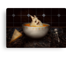 Animal - Bunny - There's a hare in my soup Canvas Print