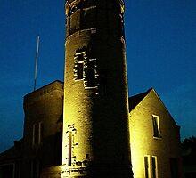 Mackinac Lighthouse-Mackinac, Michigan (Lighter version) by Kathy Russell